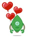 Robo 3T logo with hearts (formerly Robomongo)